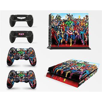 GNG Супергеройские скины для PS4 Playstation 4 Консоль Наклейка Vinal + 2 Набора контроллеров
