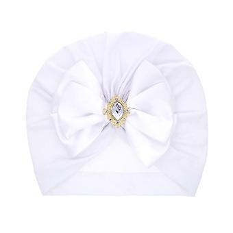 stor bue rhinestone lue for nyfødt baby turban med diamant stein lue