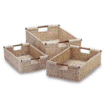 Accent Plus Nesting Corn Husk Basket Set, Pack of 1