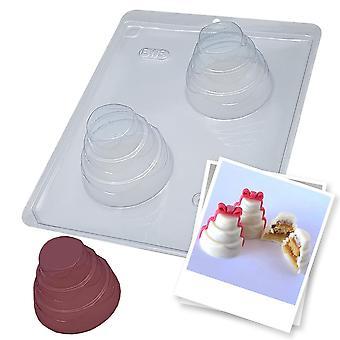 BWB 863 Special Mold 3 delar Stor tårta med varm choklad detaljer