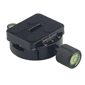 Tripod collars mounts dm-55 aluminum alloy round clamp with arca-swiss quick release plate black