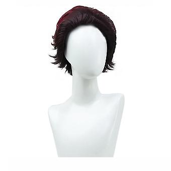 Demon Slayer  Anime Wigs Kamado Tanjirou Synthetic Hair Wigs