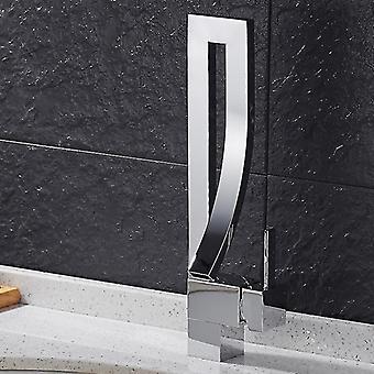 Modern modern stil inspirerad mässing sink basin mixer kran kran kran (Nickel)