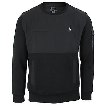 Ralph lauren men's black panel sweatshirt