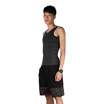 Men Slim Body Shaper Belly Fatty Underwear Vest Shirt Corset Compression Tops