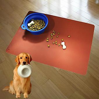 Pet Food Mat Silicone Imperméable à l'eau Mat Chien Chiot Chaton Antidérapant Bowl Mat Puppy