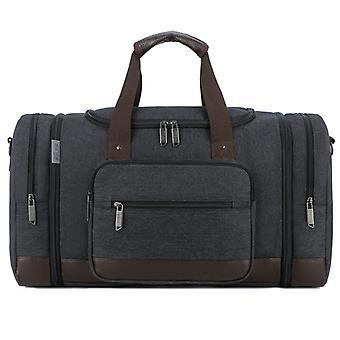 ブラック 大容量キャンバス ハンドバッグ メンズ トラベル バッグ