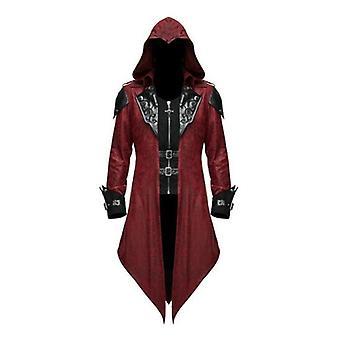 ליל כל הקדושים ימי הביניים טוקסידו מעיל גותי רטרו תפירה מעיל תלבושות