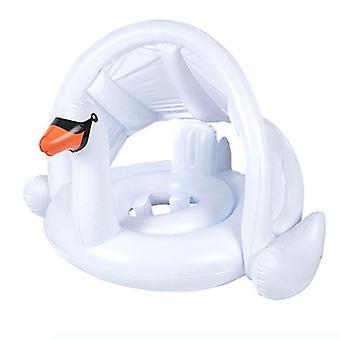 Rose Flamingo et White Swan Baby Pool Flotte avec auvent réglable Bébé Gonflable Swan Swimming Ring