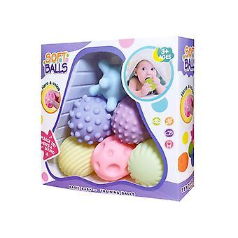 Touch Hand Soft Bile Baby Masaj dentiție de cauciuc Stoarce jucărie