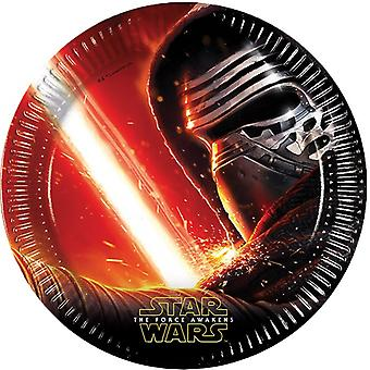 Star Wars Teller Pappteller Kinderparty 8 St The Force Awakens Kindergeburtstag