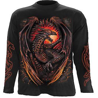 Spiral - dragon furnace - long sleeve t-shirt, black