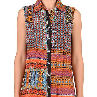Iconique IC7-026 nők ' s Orange Aztec Camisole Beach dress