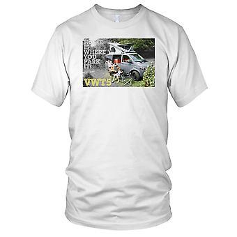 Home Is Where You Park es VW T5 Campervan Kinder T Shirt