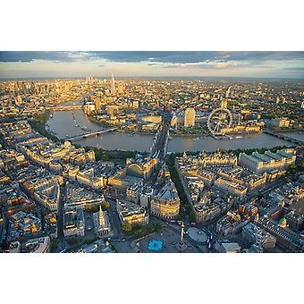 London Evening - Jason Hawkes Poster Poster Print