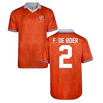 Score Draw Holland World Cup 1994 Home Shirt (F De Boer 2)