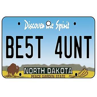 North Dakota - beste tante License Plate auto luchtverfrisser
