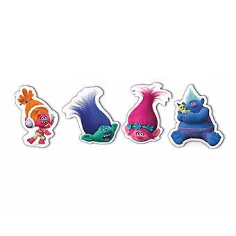 Trolls Childrens/Kids Official Erasers (Set of 4)