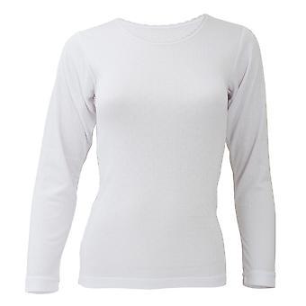 FLOSO damer/kvinners ullundertøy lang ermet T-skjorte/topp (Standard Range)