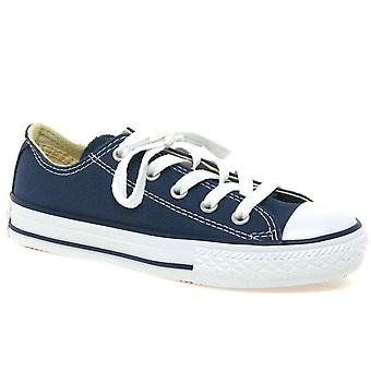 Converse Youth Oxford Boys Blue Canvas Shoes