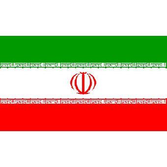Iranin lippu 5 jalkaa x 3 ft jossa ripustamista varten