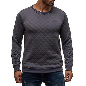 Men Pullover Sweatshirt Steppmuster Sweatshirt Sweatpattern Sweater with diamond stitching