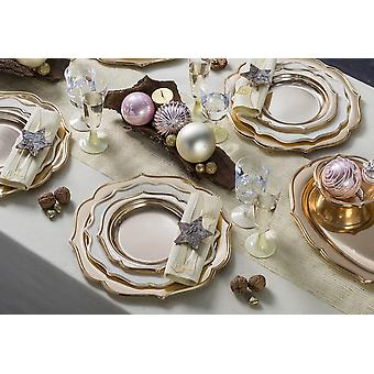 Party tableware romantic set for 6 guests 65-teilig party package white gold party package