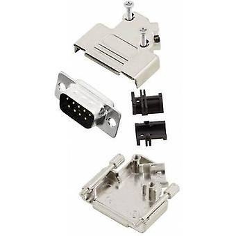 Tira de pin MHD45ZK9-DM9P-K conectores D-SUB de MH set 45 ° número de pernos: 9 soldadura cubo 1 PC