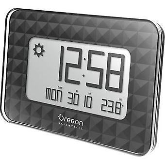 Oregon Scientific JW 208 black Radio Wall clock 30 mm x 246 mm x 173 mm Black