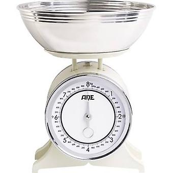 ADE KM 1500 Anna Kitchen scales analogue, + weighing tray Weight range=8 kg Cream