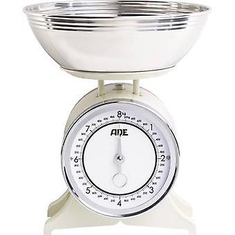 ADE KM 1500 Anna Kitchen skaliert analoge + mit einem Gewicht von Fach Gewichtsbereich = 8 kg Creme