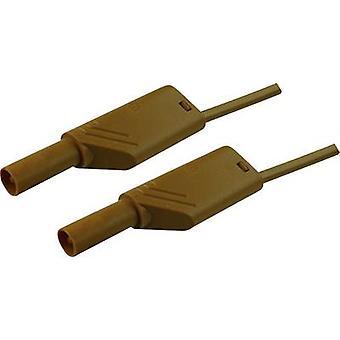 SKS Hirschmann MLS WS 100/2,5 Cable de prueba de seguridad [Conector de plátano 4 mm - Conector de plátano 4 mm] 1,00 m marrón 1 ud(s)