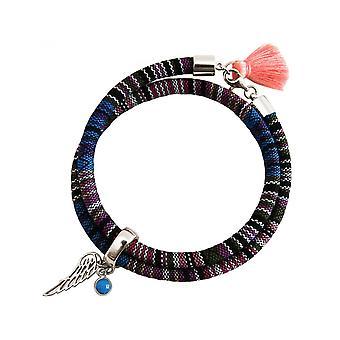 -Bracelet - bracelet - 925 Silver - leaf - Angel - AZTEC - turquoise