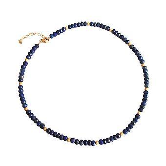 Lapislazuli Kette Lapis Lazuli Halskette Edelsteinkette vergoldet