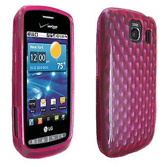 OEM Verizon LG Vortex VS660 haute brillance Silicone Case (rose) (emballage en vrac)