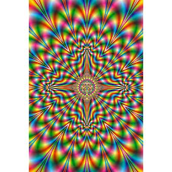 Psychedelic Pulse Trip Art Poster Poster Print
