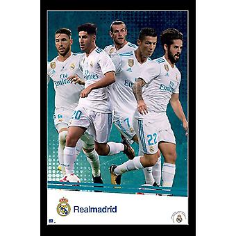 Real Madrid - Group Poster afdrukken