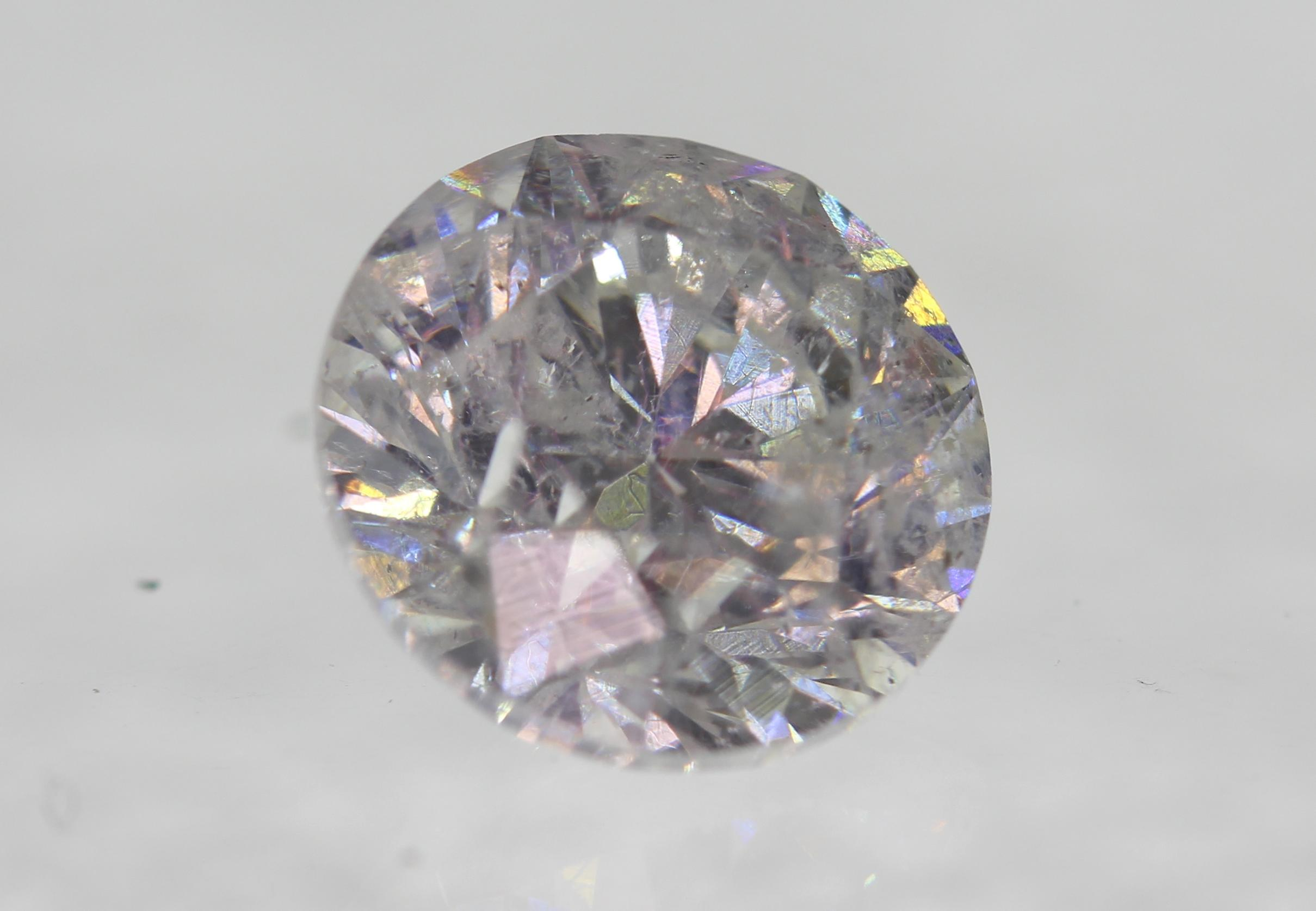 Certified 1.51 Carat F Color SI2 Round Brilliant Enhanced Natural Diamond 7.02mm