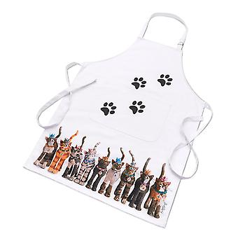 Royal Furmily Pawtraits Cat Cotton Apron