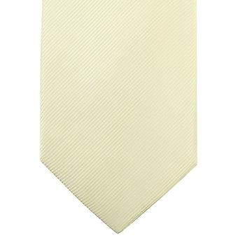 Knightsbridge Neckwear Plain Diagonal Ribbed Tie - Yellow
