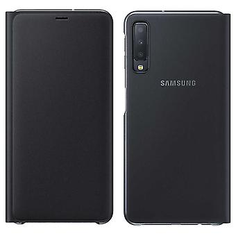 Samsung wallet cover case EF WA750PBEGWW Galaxy A7 2018 A750F protective sleeve black