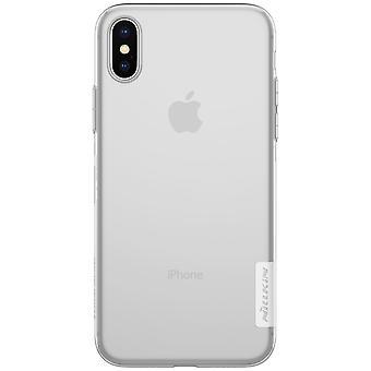 NILLKIN iPhone X/XS natuur serie 0,6 mm TPU-wit