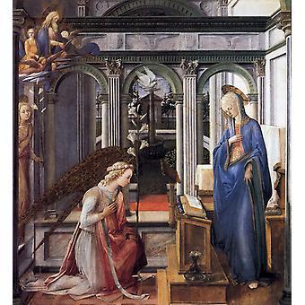 The Annunciation,Fra Filippo Lippi,50x50cm