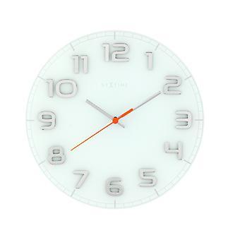 Nextime NE-8817WI væg ur dia. 30 X 3,5 Cm, glas, hvid, 'Classy runde'