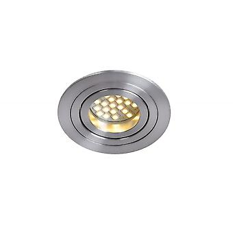 Lucide tubo aluminio redondo moderno cromo satinado empotrable luz del punto