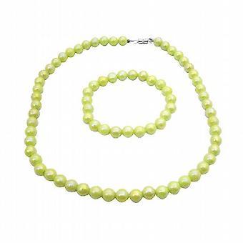 Светло зеленый попугай украшения зеленый девочек круглые бусины прохладный цвет украшения