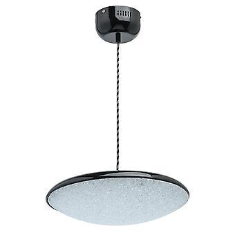 Glasberg - LED pingente grande ajustável em preto e branco 703011101