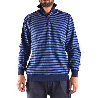 Paul & Shark Ezbc042009 Men's Blue Wool Sweater