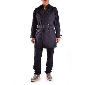 Aspesi Ezbc067002 Men's Blue Polyester Trench Coat