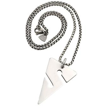 Ti2 Titanium Cave Diving Line Arrow Pendant - Silver